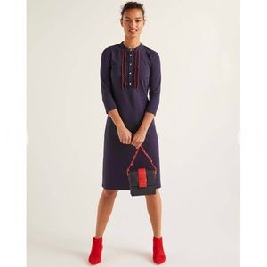 Boden Florence Ponte Shift Dress in Navy